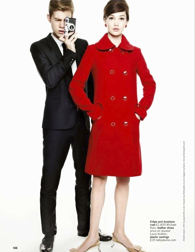 GLAMOUR UK- Lena Lomkova & Charlie Mills in Mod Rules by Walter Chin. Charlotte-Anne Fidler, March 2013, www.imageamplified.com, Image Amplified (2)