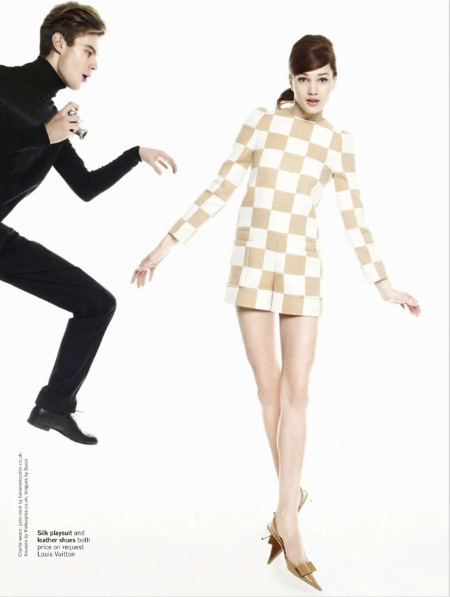 GLAMOUR UK- Lena Lomkova & Charlie Mills in Mod Rules by Walter Chin. Charlotte-Anne Fidler, March 2013, www.imageamplified.com, Image Amplified (7)
