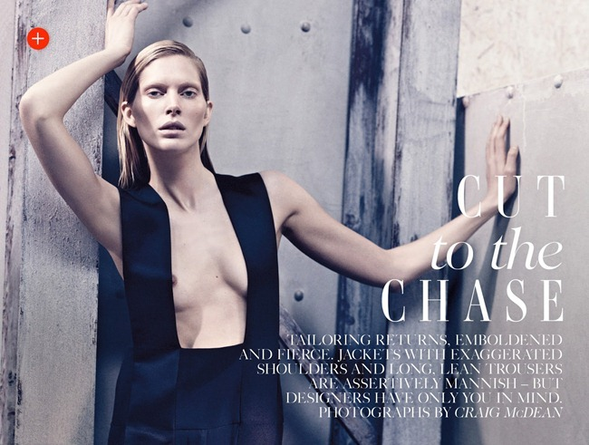 VOGUE UK- Iselin Steiro in Cut to the Chase by Craig McDean. Jane How, March 2013, www.imageamplified.com, Image Amplified