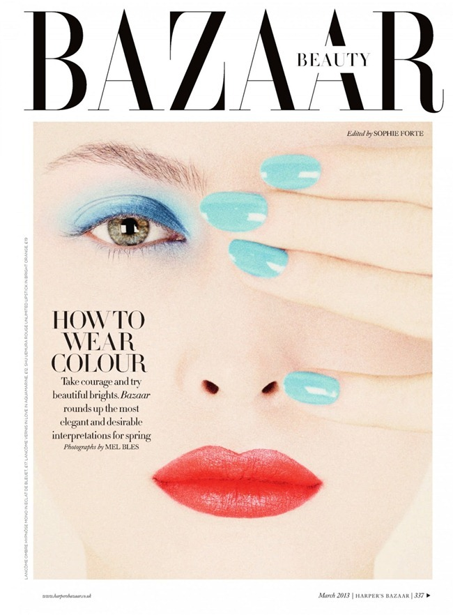 HARPER'S BAZAAR UK- Amanda Hendrick in How To Wear Colour by Mel Bles. Sophie Forte, March 2013, www.imageamplified.com, Image Amplified