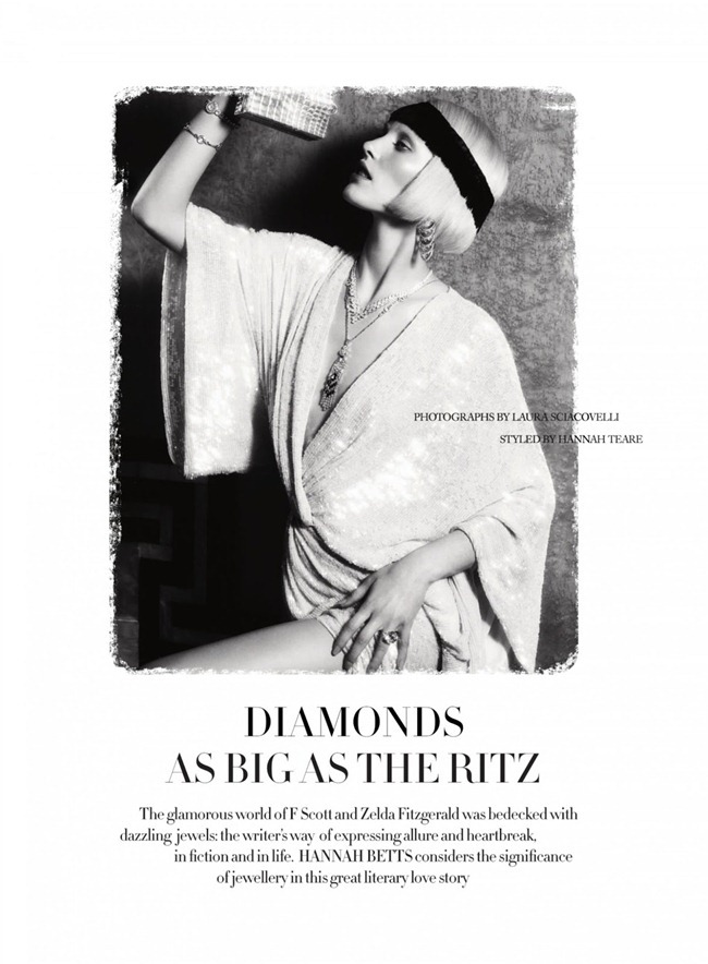 HARPER'S BAZAAR UK- Emily Baker in Diamonds As Big As The Ritz by Laura Sciaovelli. Hannah Teare, March 2013, www.imageamplified.com, Image Amplified