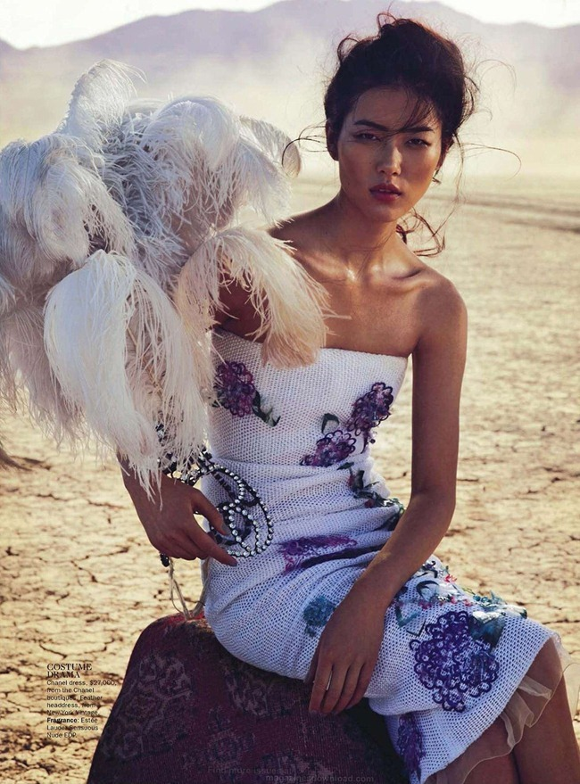 VOGUE AUSTRALIA- Liu Wen in On With the Show by Will Davidson. Stevie Dance, March 2013, www.imageamplified.com, Image Amplified (3)