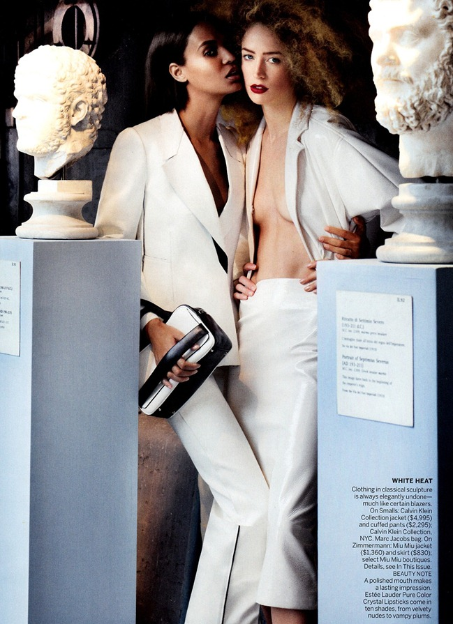 VOGUE MAGAZINE- Raquel Zimmermann & Joan Smalls in To Rome With Love by Mario Testino. Tonne Goodman, March 2013, www.imageamplified.com, Image Amplified (6)