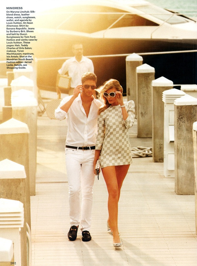 ALLURE MAGAZINE- Maryna Linchuk & Sean Altemose in A Little Latitude by Alexi Lubomirski. Jarrod Lacks, March 2013, www.imageamplified.com, Image Amplified