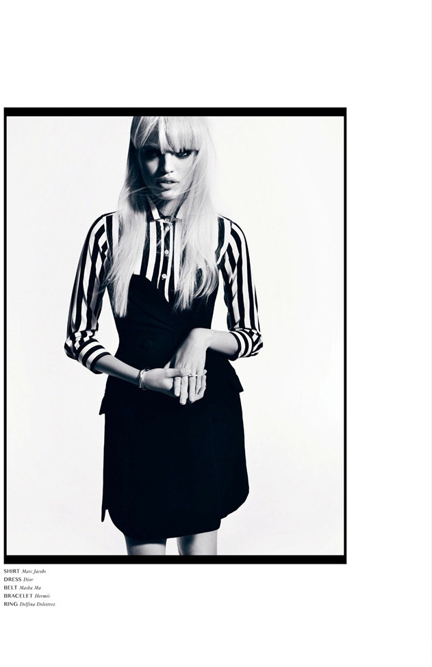 DANSK MAGAZINE- Daphne Groenveld in Black N' White by Hasse Nielsen. Darcy Backlar, Spring 2013, www.imageamplified.com, Image Amplified (2)