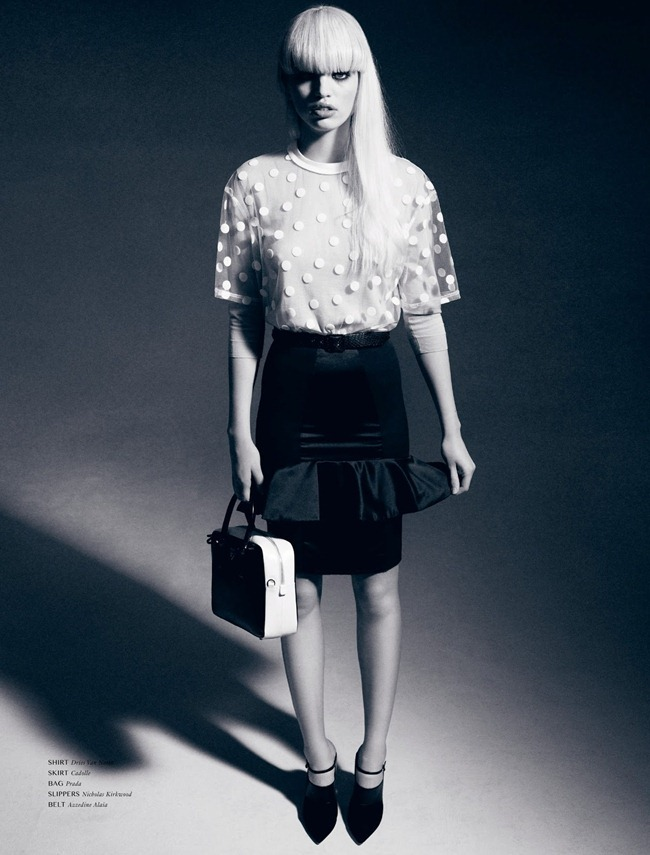 DANSK MAGAZINE- Daphne Groenveld in Black N' White by Hasse Nielsen. Darcy Backlar, Spring 2013, www.imageamplified.com, Image Amplified (10)