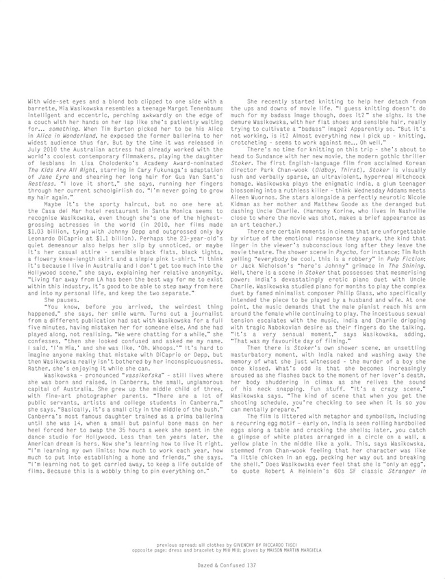 DAZED & CONFUSED MAGAZINE- Mia Wasikowska in Mia Dearest by Theo Wenner. Karen Langley, March 2013, www.imageamplified.com, Image Amplified (4)