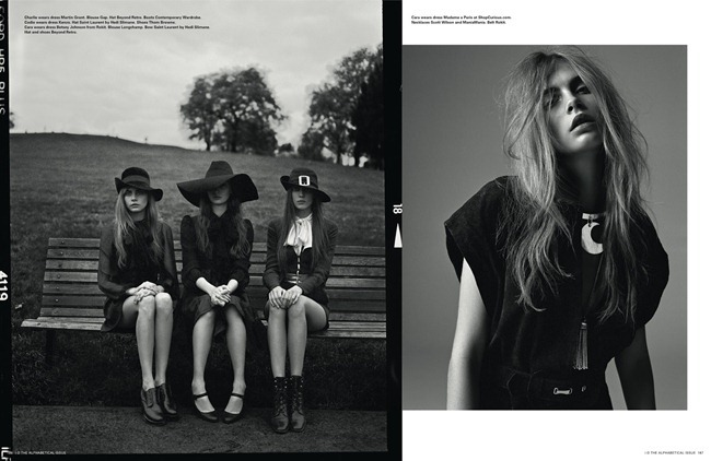 I-D MAGAZINE- Cara Delevigne, Codie Young, Magda Laguinge, Louise Parker & Charlie Bredal in Witches by Richard Bush. Sarah Richardson, Spring 2013, www.imageamplified.com, Image Amplified (3)