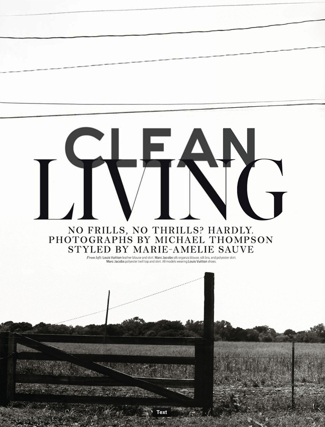 W MAGAZINE- Clean Living by Michael Thompson. Marie Amelie Sauve, March 2013, www.imageamplified.com, Image Amplified