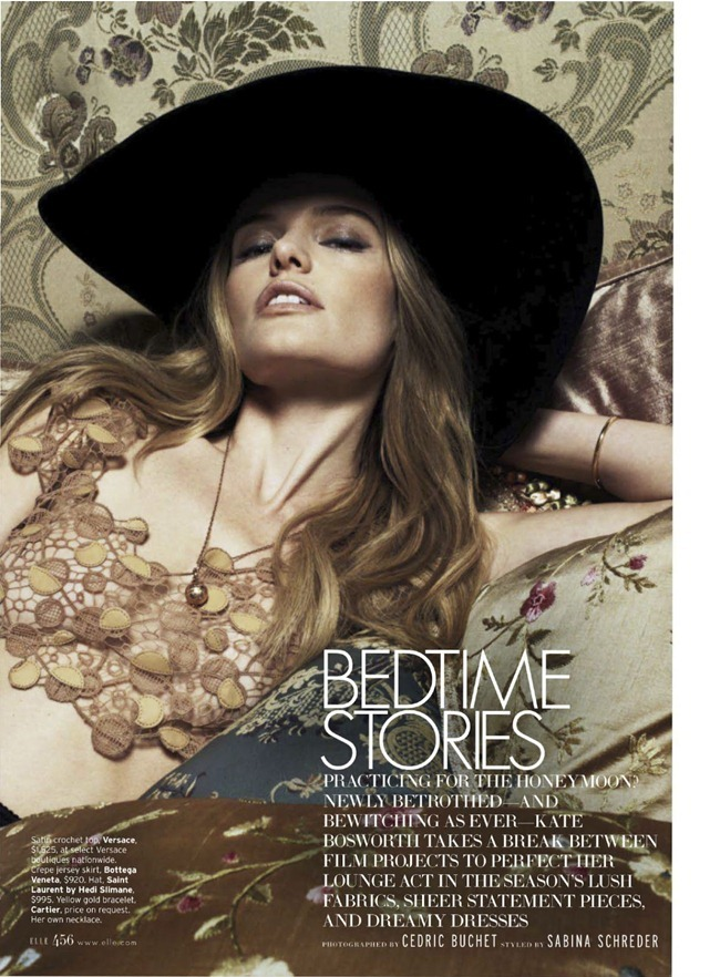 ELLE MAGAZINE- Kate Bosworth in Bedtime Stories by Cedric Buchet. Sabina Schreder, March 2013, www.imageamplified.com, Image Amplified