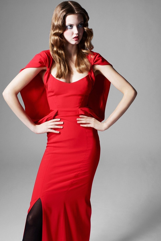 COLLECTION- Lindsey Wixson for Zac by Zac Posen Fall 2013. www.imageamplified.com, Image Amplified (17)