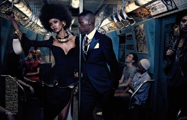 VOGUE JAPAN- Liya Kebede & DAvid Abbodji in The Vanishing Underground by Mikael Jansson. George Cortina, April 2013, www.imageamplified.com, Image Amplified (5)