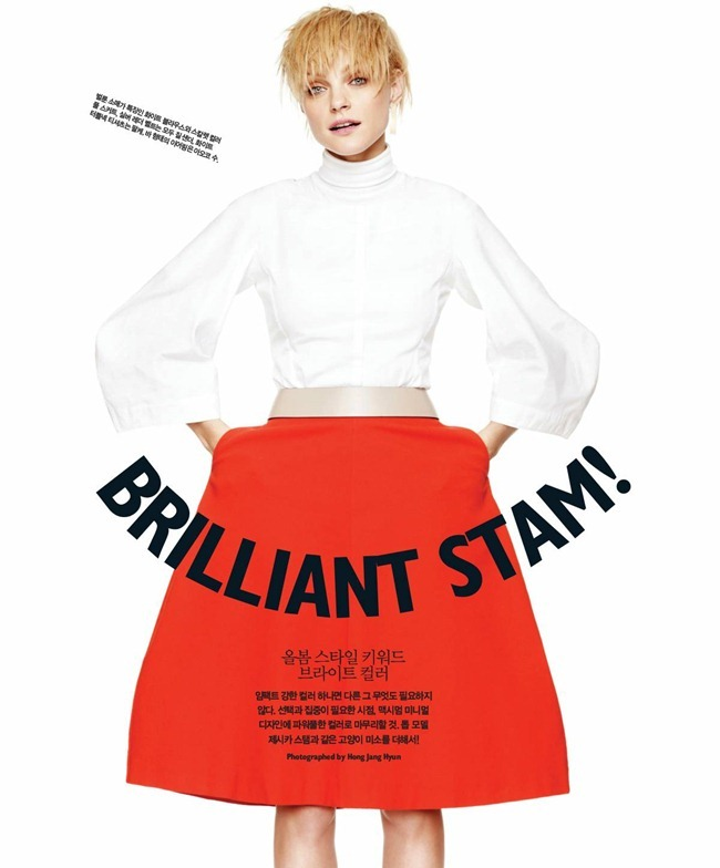 SINGLES KOREA- jessica Stam in Brilliant Jessica! by Hong Jang Hyun. William Graper, March 2013, www.imageamplified.com, Image Amplified