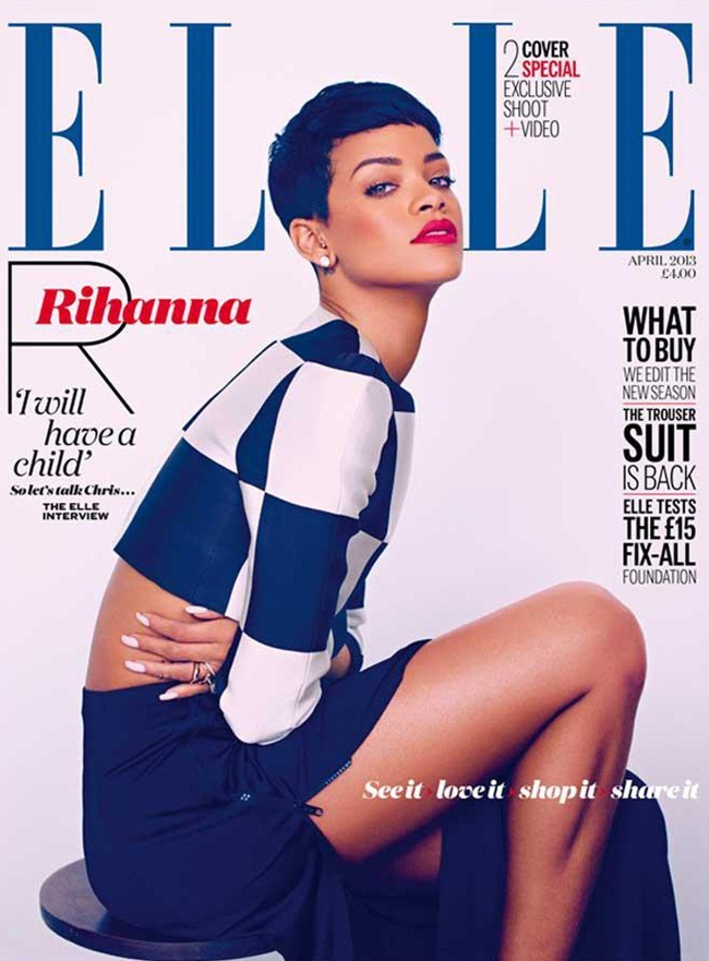 ELLE UK- Rihanna by Mariano Vivanco. April 2013, www.imageamplified.com, Image Amplified