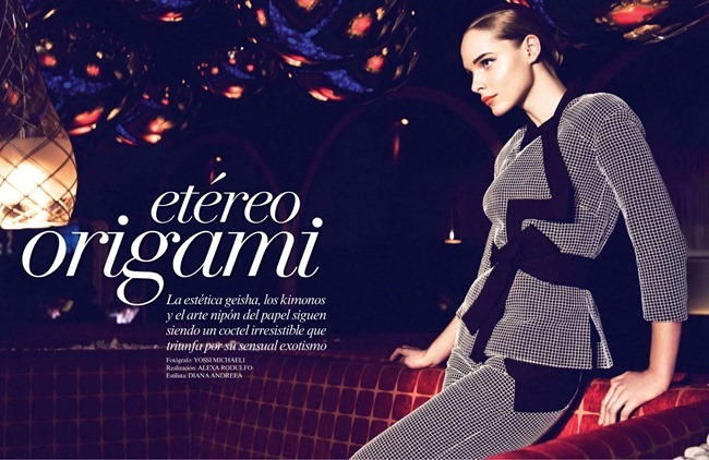 VOGUE MEXICO- Etereo Origami by Yossi Michaeli. Diana Andreea, March 2013, www.imageamplified.com, Image Amplified