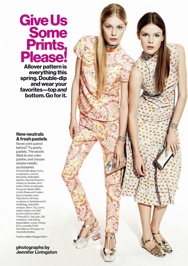 GLAMOUR MAGAZINE- Give Us Some Prints, Please by Jennifer Livingston. Maggie Mann, April 2013, www.imageamplified.com, Image Amplified (1)