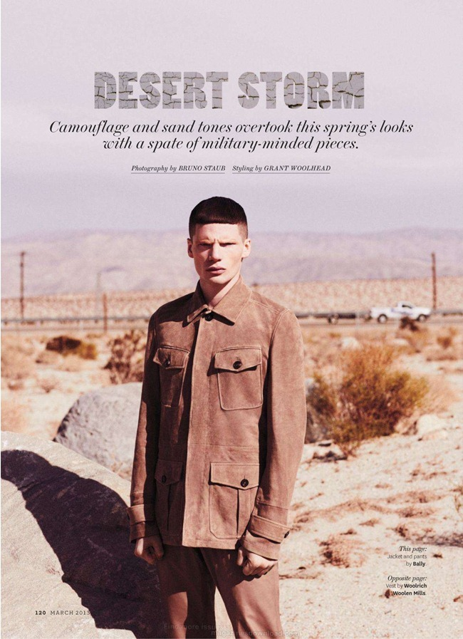 OUT MAGAZINE- Toby Leonard in Desert Storm by Bruno Staub. Grant Woolhead, March 2013, www.imageamplified.com, Image Amplified