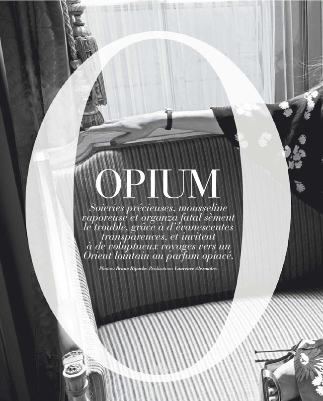 MARIE CLAIRE FRANCE- Anna Katrine Sibbersen in Opium by Bruno Ripoche. Spring 2013, www.imageamplified.com, Image Amplified