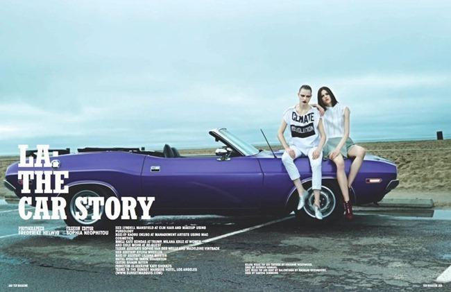 10 MAGAZINE- Kate Kondas, Milan Kruz & Cole Mohr in LA The Car Story by Frederike Helwig. Sophia Neophitou, Spring 2013, www.imageamplified.com, Image Amplified