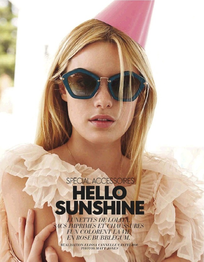 ELLE FRANCE- Camille Rowe in Hello Sunshine by Matt Jones. Elissa Cannelle Castelbou, March 2013, www.imageamplified.com, Image Amplified (1)