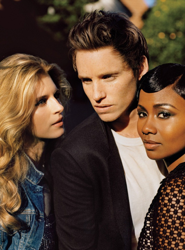 W MAGAZINE- Brit Marling, Eddie Redmayne & Emayatzy Corinealdi IN The New Guard Hollywood's Freshest Faces by Alasdair McLellan. Edward Enninful, April 2013, www.imageamplified.com, Image Amplified