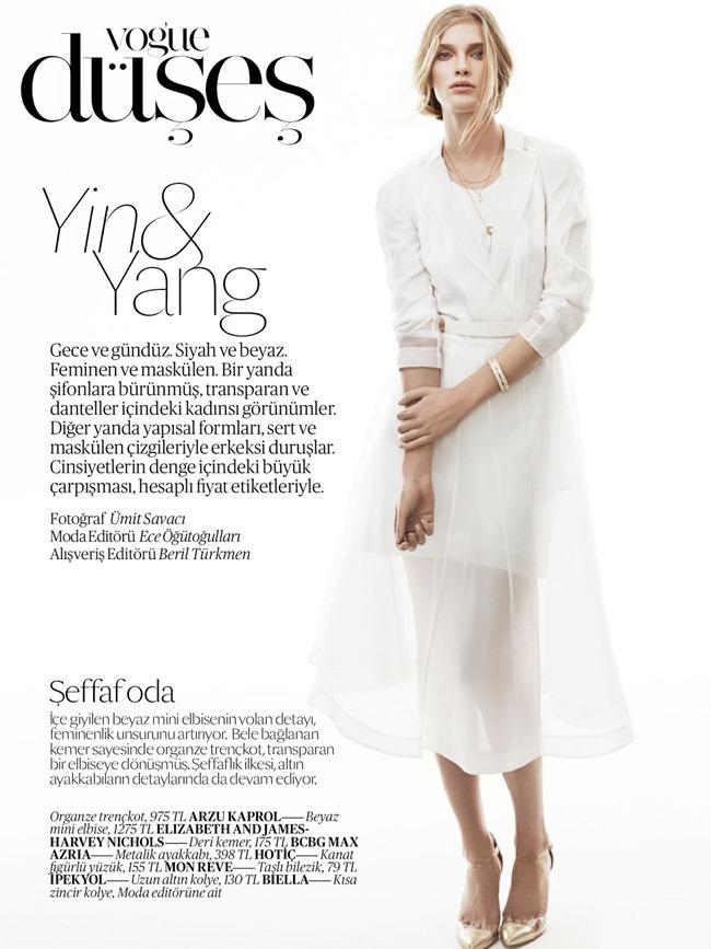 VOGUE TURKEY- Ilse De Boer in Yin & Yang by Umit Savaci. Ece Ogutogullari, April 2013, www.imageamplified.com, Image Amplified