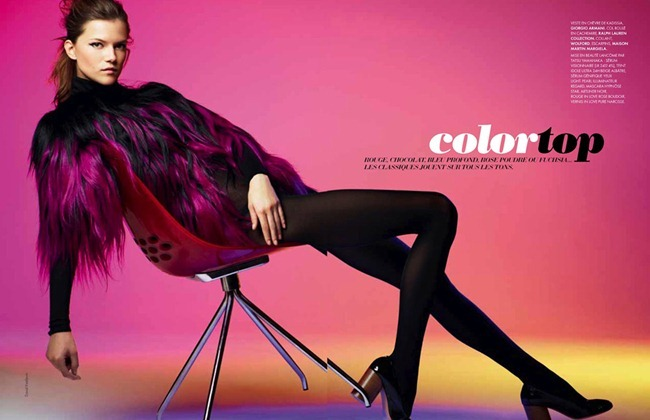 ELLE FRANCE Kasia Struss in Color Top by Davis Vasiljevic. www.imageamplified.com, Image Amplified (28)