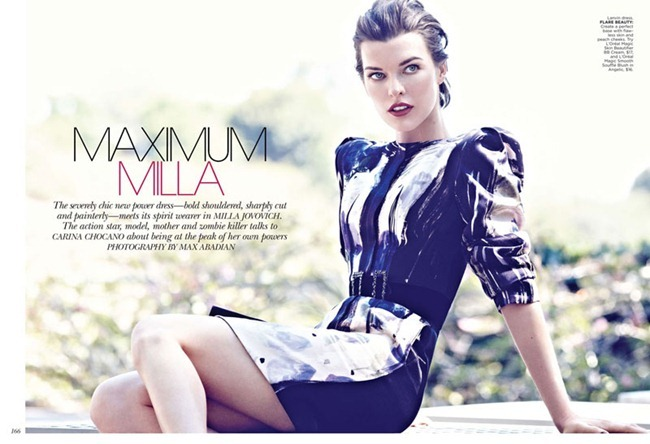 FLARE MAGAZINE Milla Jovovich in Maximum Milla by Max Abadian. Elizabeth Cabral, October 2012, www.imageamplified.com, Image Amplified (4)