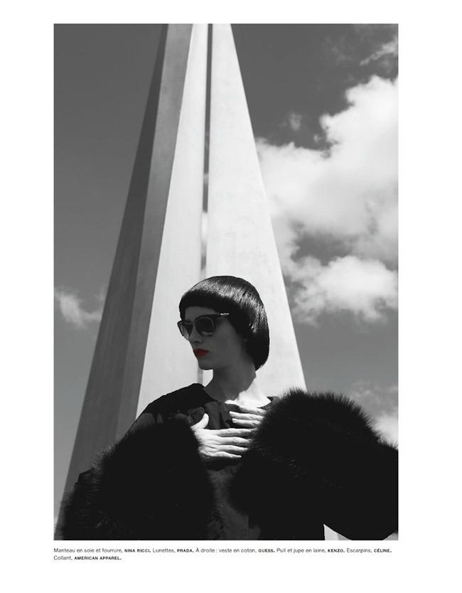 89fb1482b02c4 NUMERO MAGAZINE Ava Smith in De Stijl by Viviane Sassen. Belen Casadevall