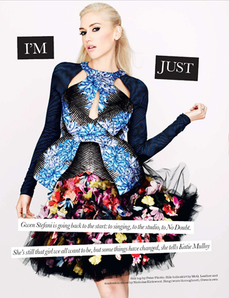 ELLE UK Gwen Stefani in I'm Just a Girl by Matt Irwin. Natalie Wansbrough-Jones, October 2012, www.imageamplified.com, Image Amplified (2)