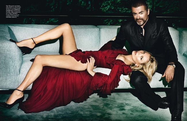 VOGUE PARIS Kate Moss & George Michael in King George by Mario Testino. Emmanuelle Alt, October 2012, www.imageamplified.com, Image Amplified (2)