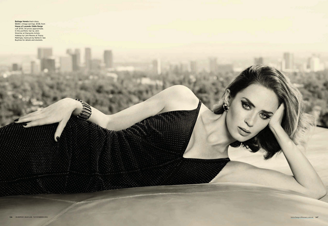 HARPER'S BAZAAR AUSTRALIA- Emily Blunt in Blunt Force by Jason Bell. Thelma McQuillan, November 2012, www.imageamplified.com, Image Amplified (7)