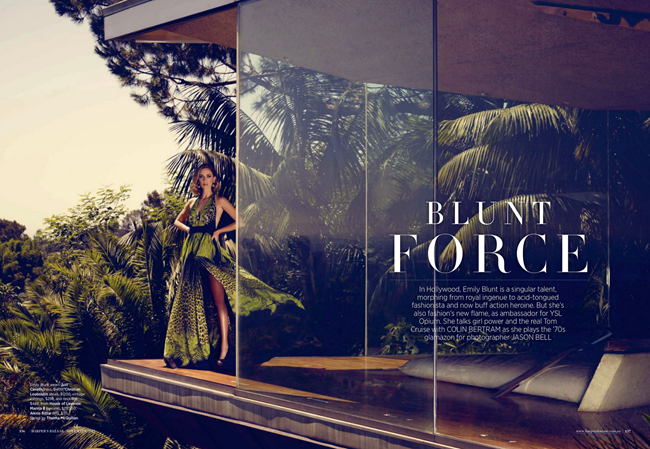 HARPER'S BAZAAR AUSTRALIA- Emily Blunt in Blunt Force by Jason Bell. Thelma McQuillan, November 2012, www.imageamplified.com, Image Amplified (2)