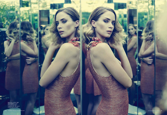 HARPER'S BAZAAR AUSTRALIA- Emily Blunt in Blunt Force by Jason Bell. Thelma McQuillan, November 2012, www.imageamplified.com, Image Amplified (5)