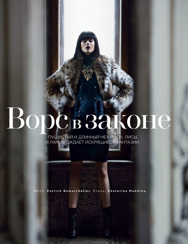 VOGUE RUSSIA Frida Gustavsson in Winter Lady by Patrick Demarchelier. Ekaterina Mukhina, October 2012, www.imageamplified.com, Image Amplified (2)