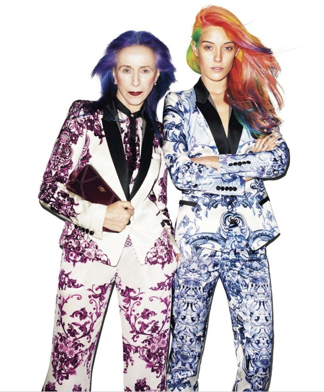 HARPER'S BAZAAR MAGAZINE Chloe Norgaard & Beatrix Ost in In Living Color by Terry Richardson. Leslie Lessin, November 2012, www.imageamplified.com, Image Amplified (3)