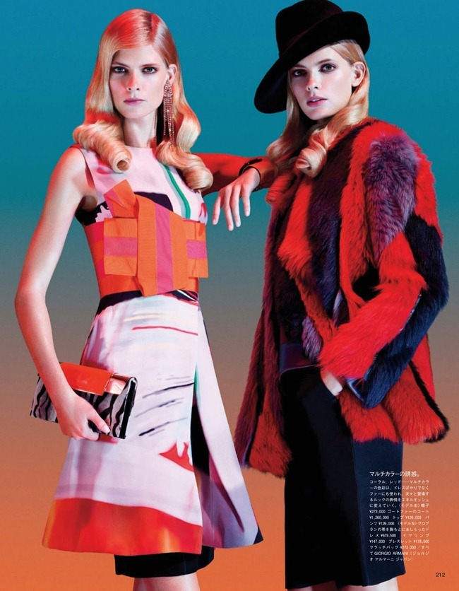 VOGUE JAPAN Julia Stegner in Color Confidence by Sharif Hamza. Aurora Sansone, December 2012, www.imageamplified.com, Image Amplified (3)