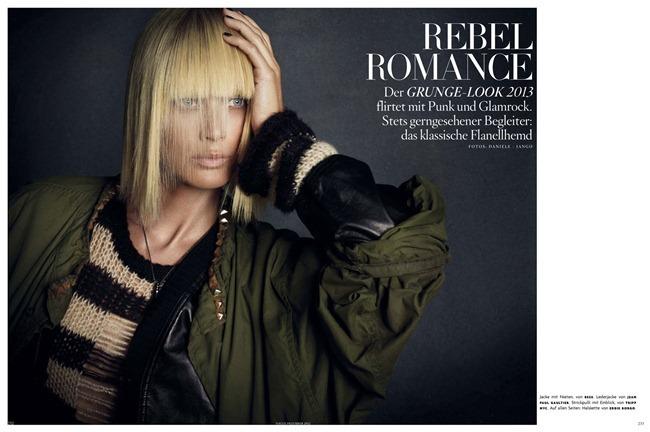 VOGUE GERMANY- Carolyn Murphy in Rebel Romance by Daniele & Iango. Patti Wilson, December 2012, www.imageamplified.com, Image Amplified
