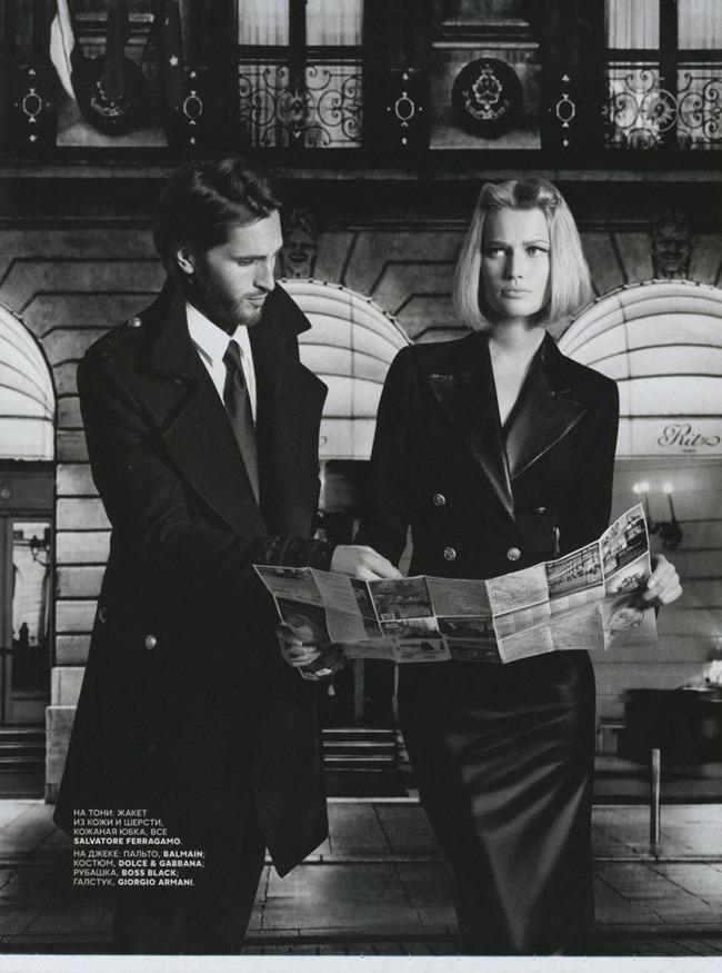 VOGUE RUSSIA- Toni Garrn & Linda Evangelista by Karl Lagerfeld. Ekaterina Mukhina, December 2012, www.imageamplified.com, Image Amplified (7)