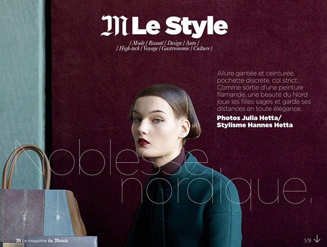 M LE MONDE MAGAZINE- Kirsi Pyrhonen by Noblesse Nordique by Julia Hetta. Hannes Hetta, November 2012, www.imageamplified.com, Image Amplified