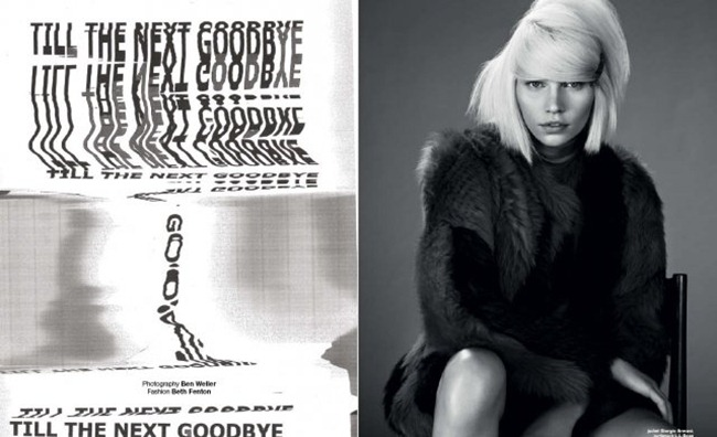 MUSE MAGAZINE- Aline Weber in Till The Next Goodbye by Ben Weller. Beth Fenton, Winter 2012, www.imageamplified.com, Image Amplified