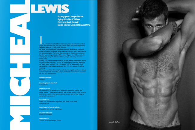 ADON MAGAZINE- Micheal Lewis by Joseph Sinclair. Roy Fire, Tal Peer, December 2012, www.imageamplified.com, Image Amplified
