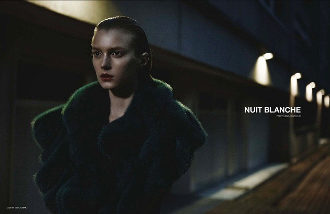 NUMERO MAGAZINE- Sigrid Agren in Nuit Blanche by Yelena Yemchuk. Rebecca Bleynie, January 2013, www.imageamplified.com, Image Amplified