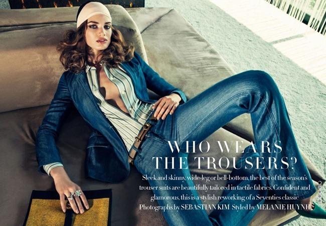 HARPER'S BAZAAR UK- Ten Haken in Who Wears The Trousers$% by SEbastian Kim. Melanie Huynh, January 2013, www.imageamplified.com, Image Amplified