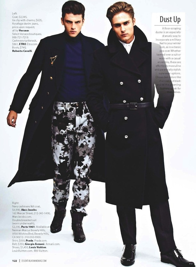 ESSENTIAL HOMME- Silviu Tolu & Jacques Naude in Top Coats by A.P. Kim. www.imageamplified.com, Image Amplified (3)