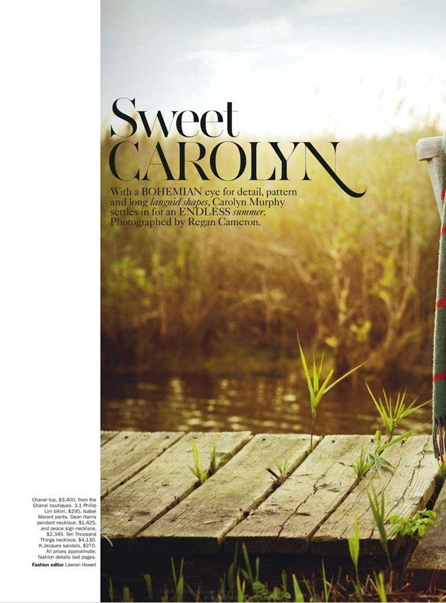 VOGUE AUSTRALIA- Carolyn Murphy in Sweet Carolyn by Regan Cameron. Lawren Howel, January 2013, www.imageamplified.com, Image Amplified