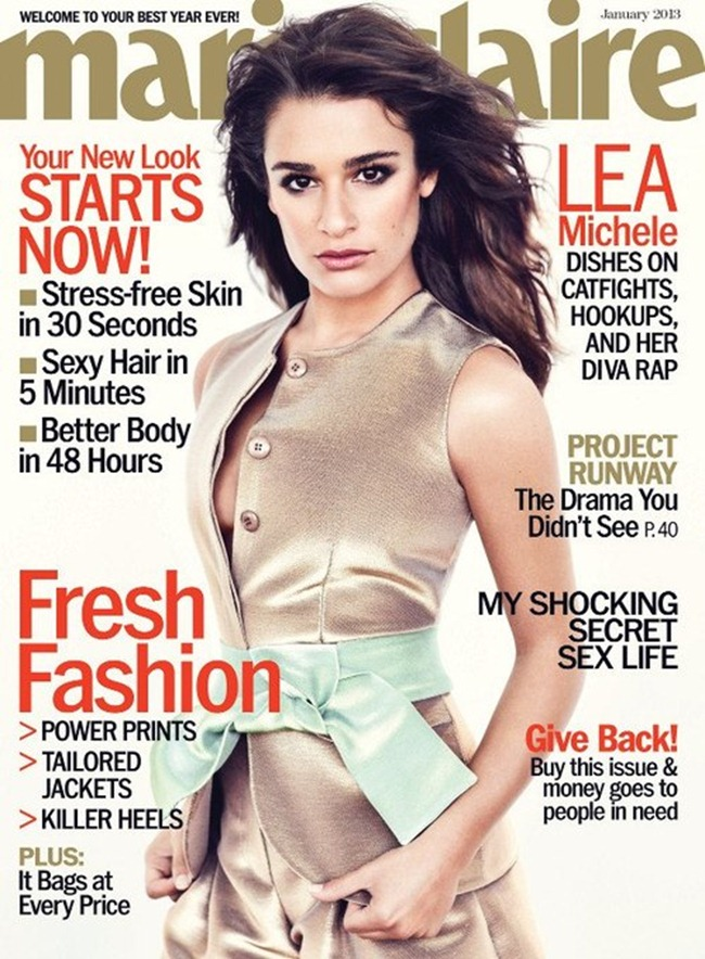MARIE CLAIRE MAGAZINE- Lea Michele by Andreas Sjodin. January 2013, www.imageamplified.com, Image Amplified (6)