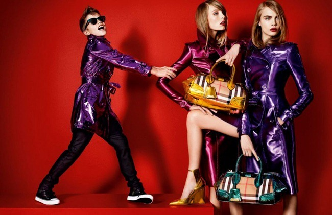PREVIEW- Romeo Beckham, Cara Delevigne, Edie Campbell & Charlie Franco for Burberry Prorsum Spring 2013 by Mario Testino. www.imageamplified.com, Image Amplified   (1)
