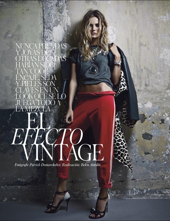 VOGUE SPAIN- Edita Vilkeviciute in El Efecto Vintage by Patrick Demarchelier. Belen Antolin, January 2013, www.imageamplified.com, Image Amplified (1)