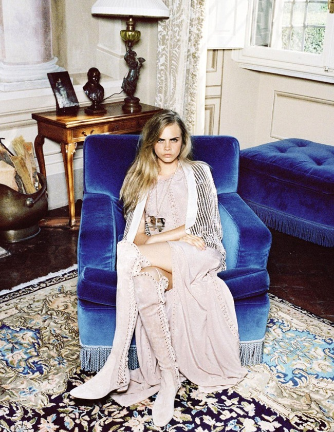 VOGUE SPAIN- Cara Delevigne & Designer Massimiliano Giometti in A La Italiana by Quentin De Briey. Marina Gallo, January 2013, www.imageamplified.com, Image Amplified (3)